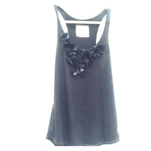 Abercrombie & Fitch embellished navy tank